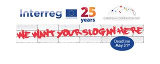Na obrazku znajduje się napis Interreg, 25 lat oraz
